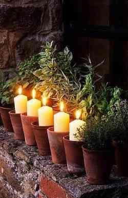 decorar con velas el jardín