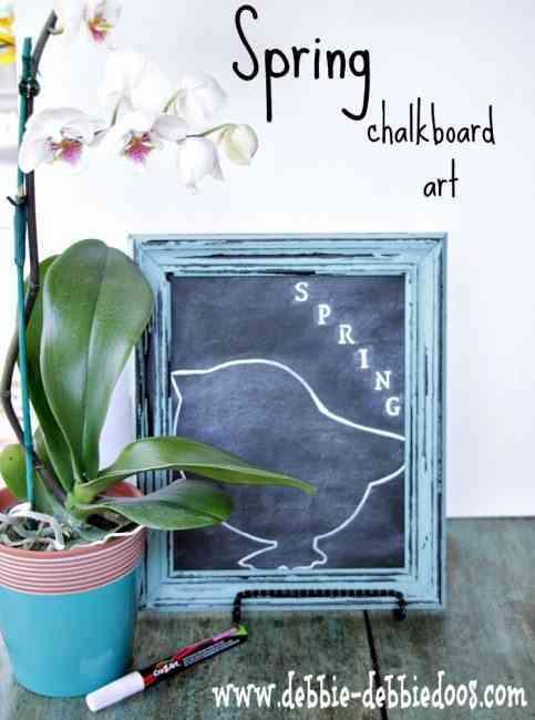 Idea para decorar con un marco de madera