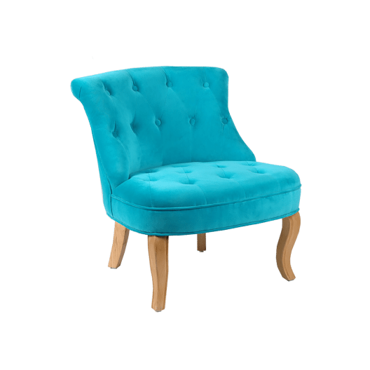 silla baja de terciopelo para ni os