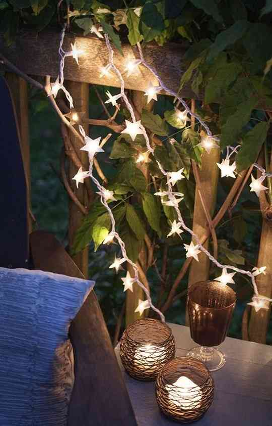 guirnaldas y fairy lights decorar las fiestas de verano
