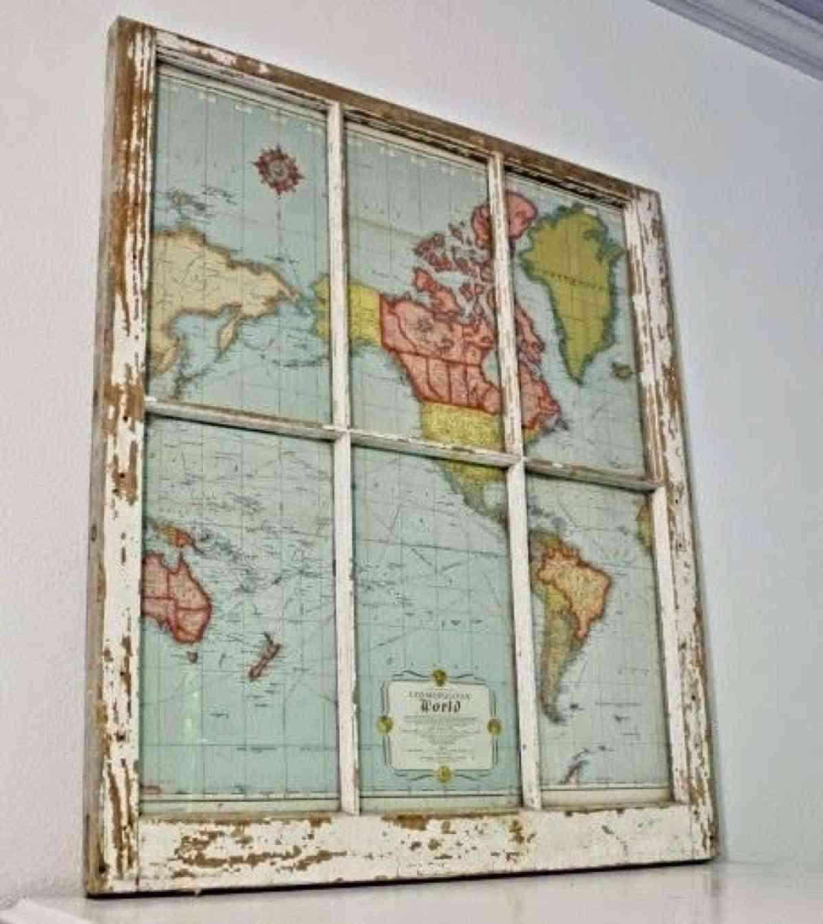 decorar con mapas ventanas