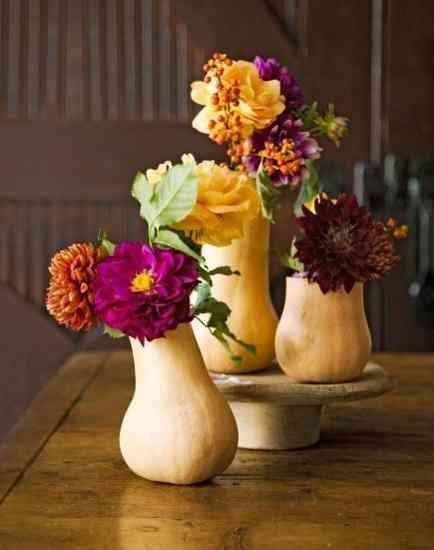 floreros con calabazas