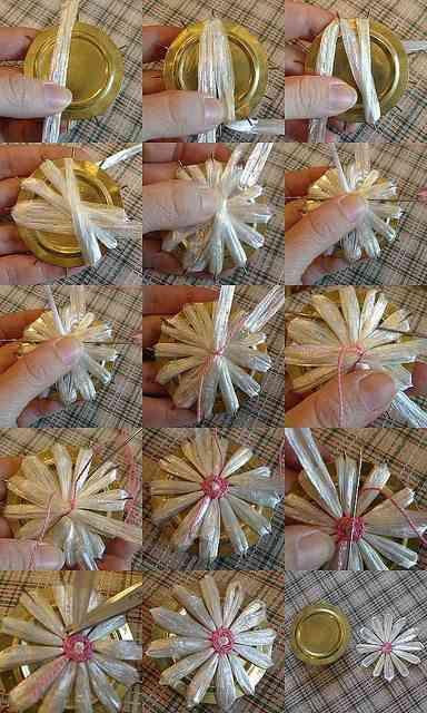 flores de rafia