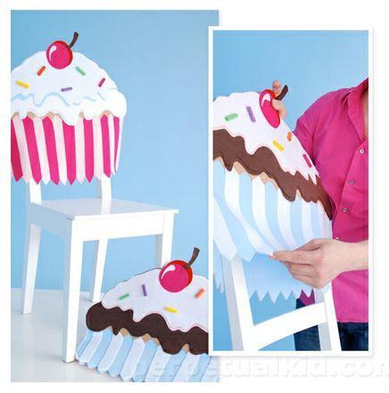 fundas de sillas de cupcakes