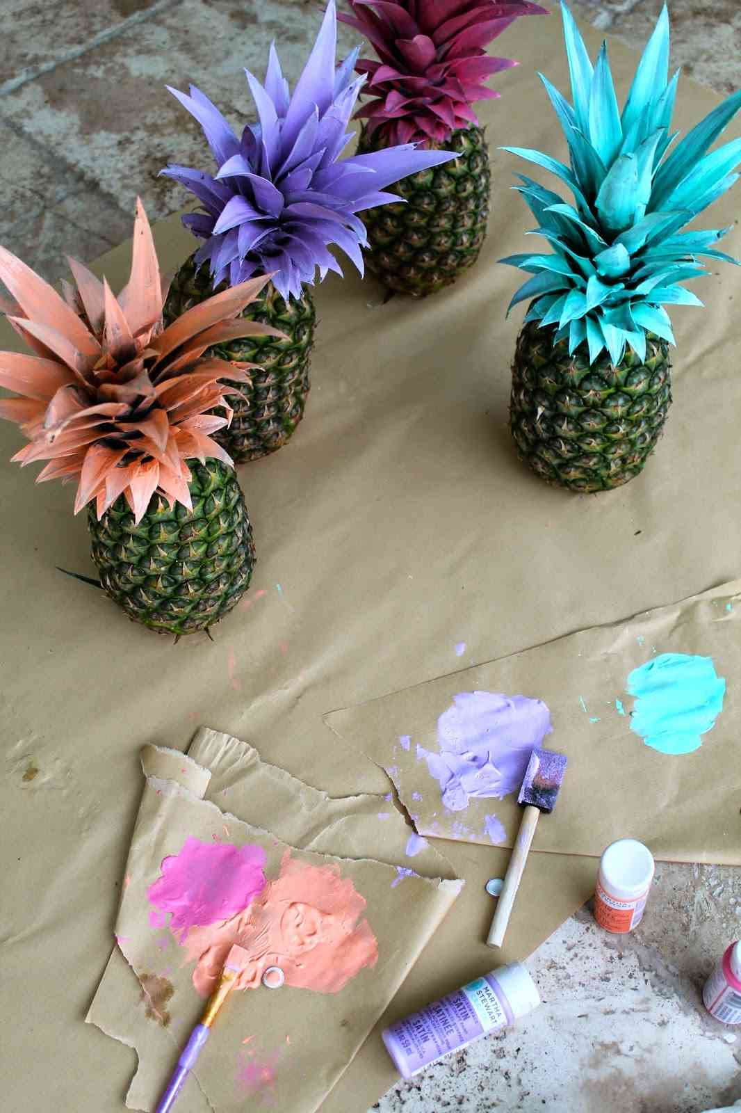 pias decoradas diy para decorar las fiestas de verano
