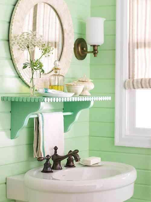 baño en tonos pastel