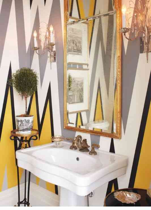 baños pequeños con estilo. Pintar la pared