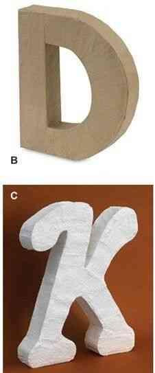 monogramas de cartón
