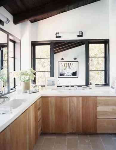 cocinas con madera - decorar cocinas