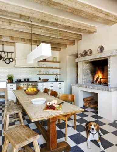 cocinas con madera - decoración de cocinas