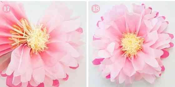flores de papel de tisu para tu salon