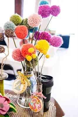flores de pompones