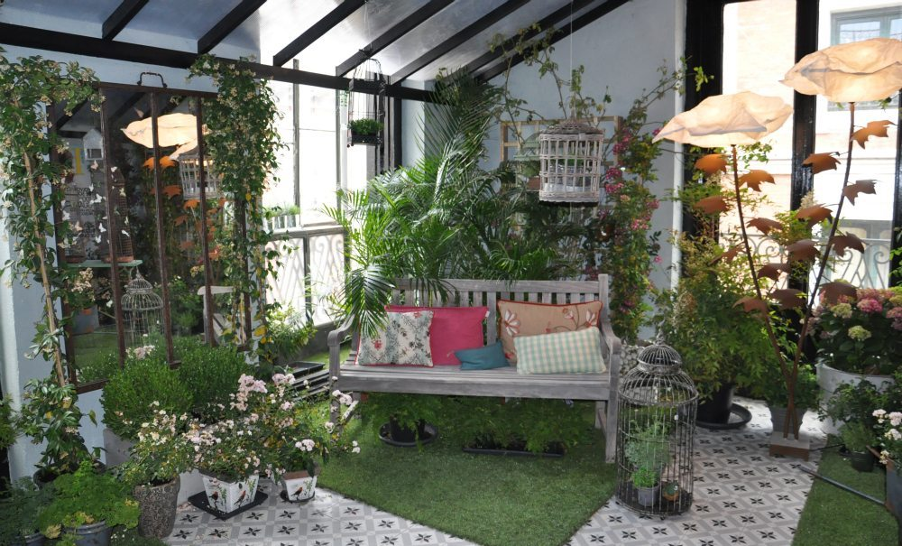 Decoraci n de jard n interior tendencias en casa decor 2014 - Jardin vertical de interior ...