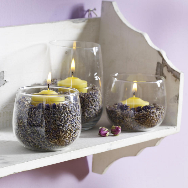 Ideas para decorar con velas for Decorar jarrones con velas