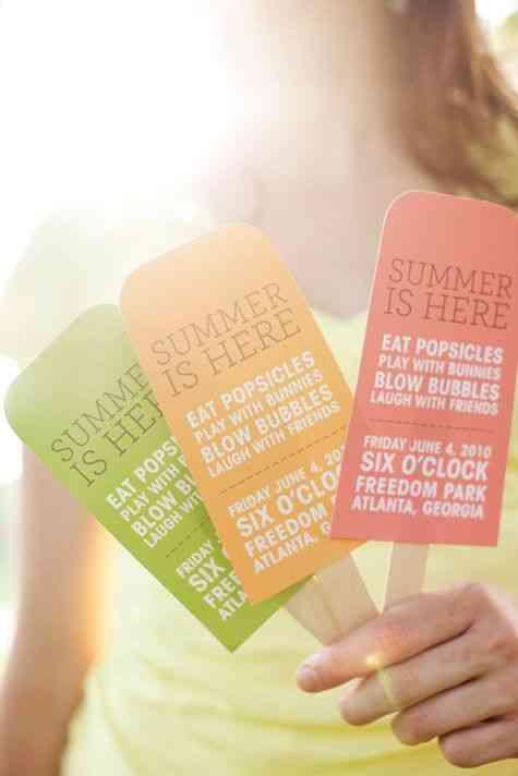 invitaciones para fiesta de verano