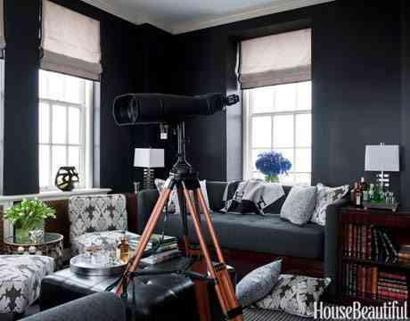 negro en las paredes