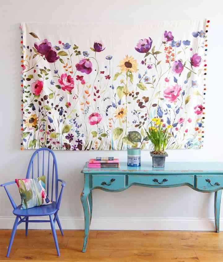 Decorar la pared con tela for Paredes decoradas con fotos
