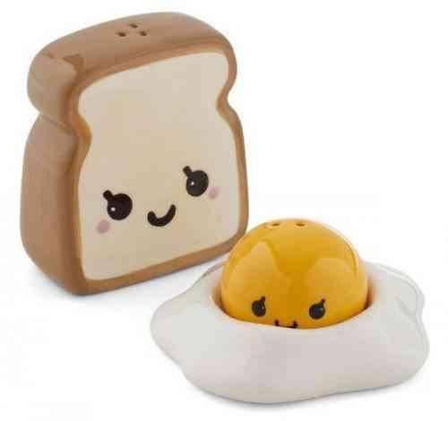 saleros originales - salero tostada y huevo