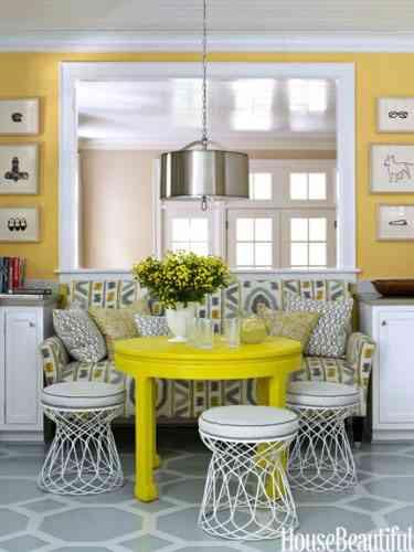 Decoración de interiores en amarillo