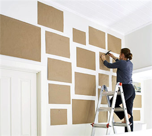 Consejos para colgar cuadros - Composicion cuadros pared ...