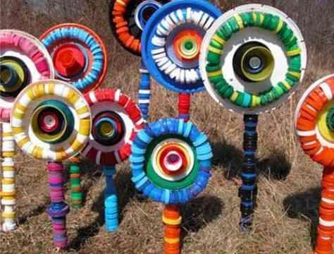 flores hechas con tapas