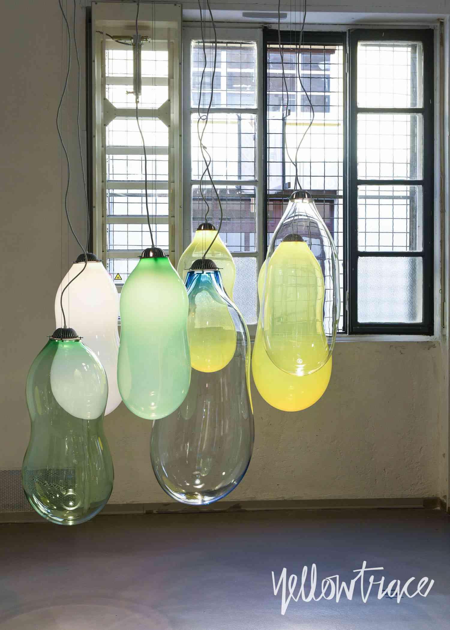 Lámparas inspiradas en pompas de jabón
