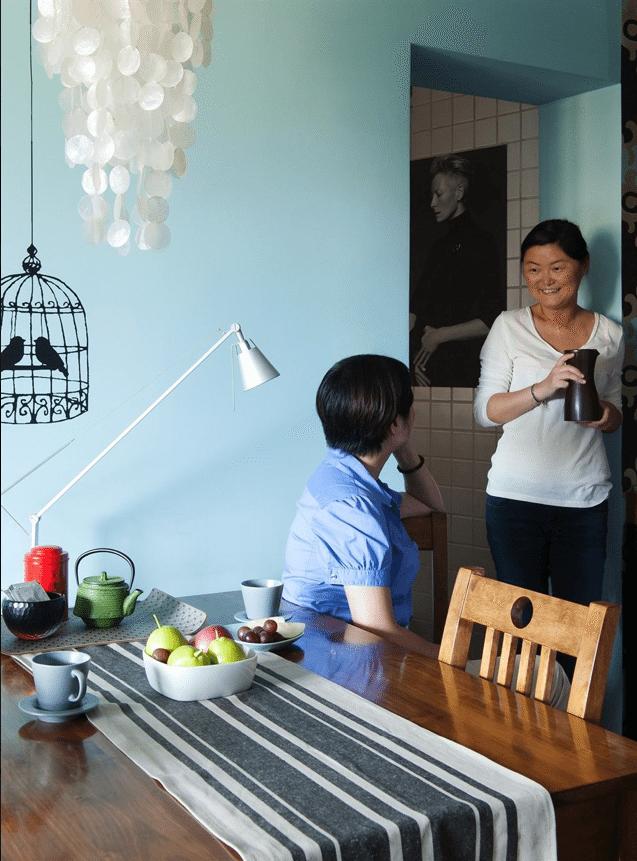 mesa cocina - vivir en una habitacion
