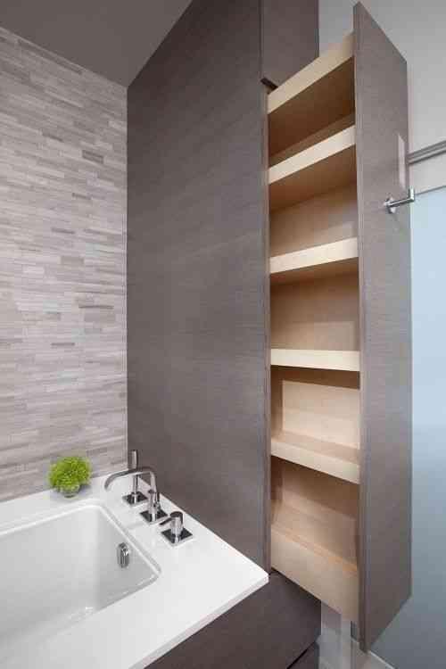 mueble para ahorrar espacio en el baño