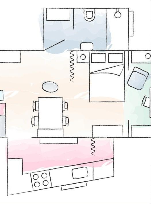 plano distribucion - vivir en una habitacion