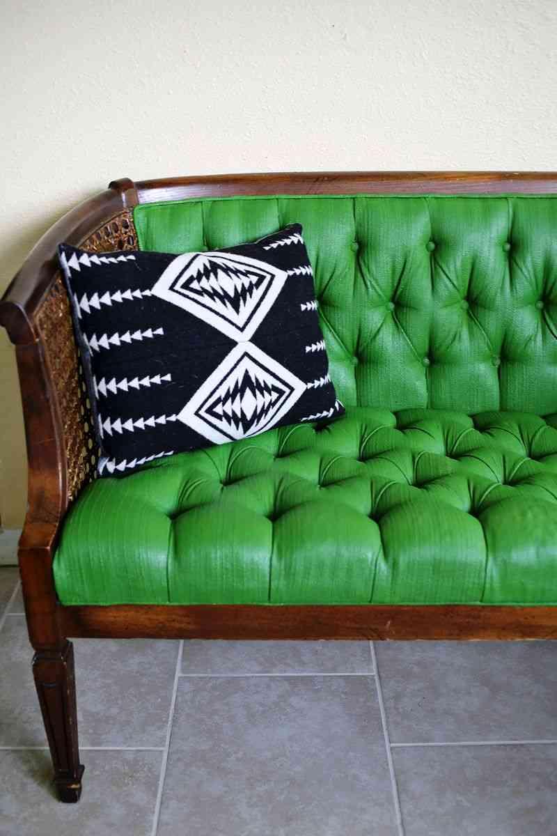 Sof renovado atr vete a pintar la tapicer a - Tela tapiceria sofa ...