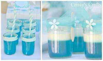 bebida en color azul