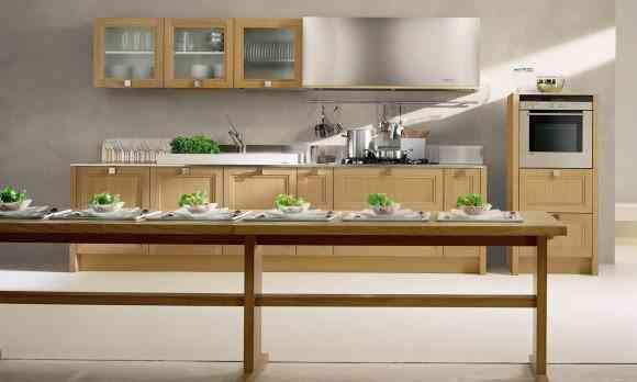 cocina con madera - Uso de madera en la decoración de cocinas