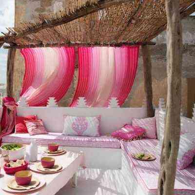 decorar en rosa rincon de verano