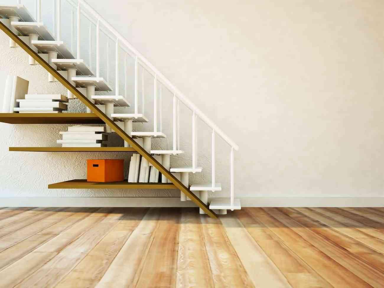 Estanterías para organizar debajo de la escalera
