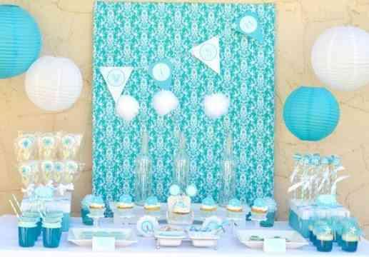 evento decorado en azul