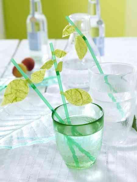 hojas de papel para decorar vasos