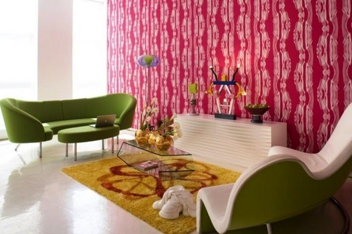 Loft moderno con papel decorado