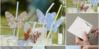 mariposas de papel para decorar vasos