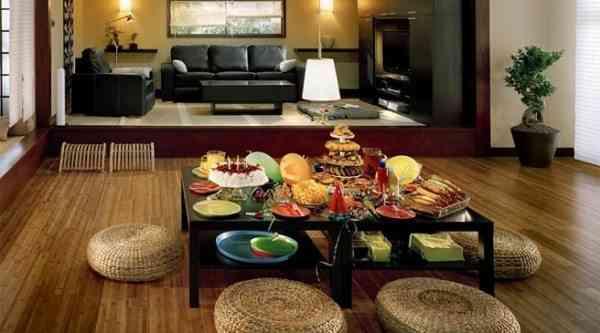mesa estilo japones