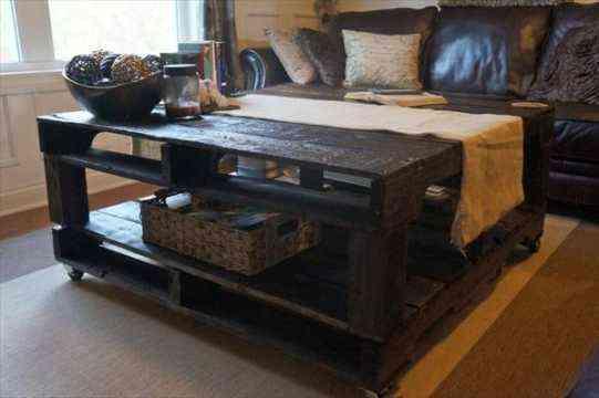 mesa hecha de palet