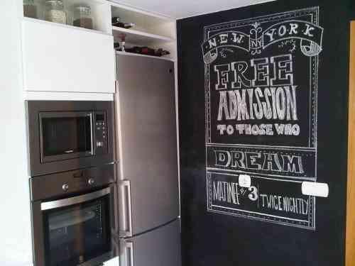 Uso de pizarras en la cocina - Pared pizarra cocina ...