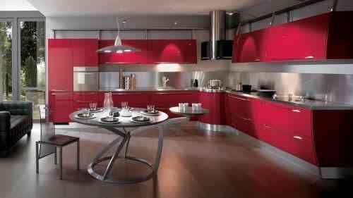 Estilo Scavolini, para cocinas coloridas