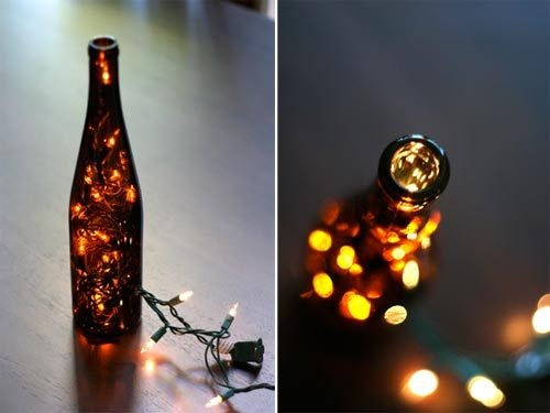 lamp made with a glass bottle