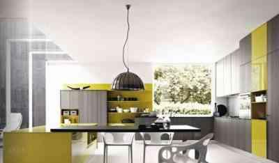 cocina en color gris