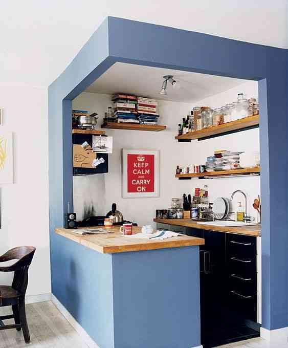 cocina pequeña y práctica