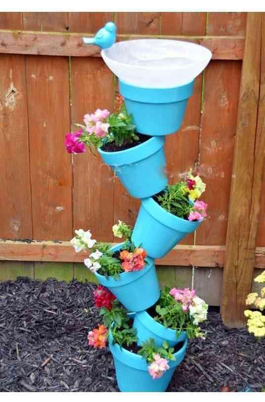 Idea para decorar con macetas los espacios de exterior - Macetas de exterior ...