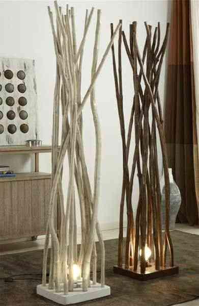 Diferentes formas de decorar con troncos y ramas for Donde venden espejos