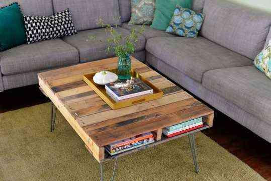 mesa hecha con un palet - Mesa Con Palets