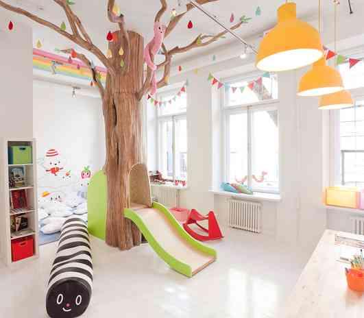 Ideas para decorar una sala de juegos infantil for Decoracion de espacios de aprendizaje