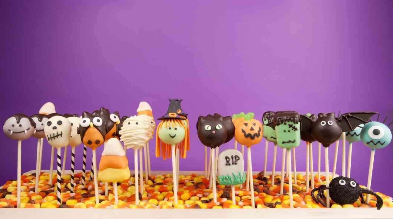 Chuches de Halloween - pop cakes de halloween